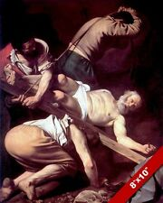 THE CRUCIFIXION OF APOSTLE PETER ROME ITALY PAINTING BIBLE ART REAL CANVAS PRINT