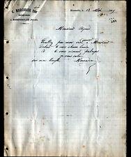 """BIZENEUILLE (03) MATERIAUX de CONSTRUCTION """"C. MARCADIER"""" en 1907"""