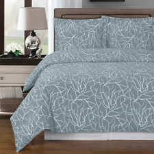 Luxury 3pc Ema Duvet Cover Set Combed  Cotton 300TC-Hidden Buttons by Footer