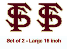 FSU Florida State Large 14 inch  Seminole Cornhole Decals / Set of 2 - Free Ship