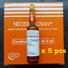 Dog & cat anti parasites (kills fleas,lice,ticks) = 5 vials x 5 ml Neostomosan