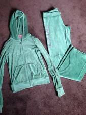 Juicy Couture Tracksuit Green Velour Hardly Worn