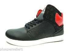SUPRA KIDS ATOM BLACK RED BLACK SHOES SIZE 13