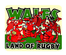 Wales, Land of Rugby Mouse Mat - Cymru/Wales Dragon