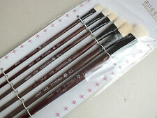 6 CHINESE WATER COLOR ACRYLIC OIL WHITE HAIR PAINTING BRUSH JAPANESE CRAFT 1-11