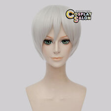 Halloween 30CM Short Silver White Straight Synthetic Hot Sale Anime Cosplay Wig