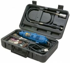 Rotary Tool Workstation Kit Flex Shaft Dremel 80 Piece Accessory Set Carry Case