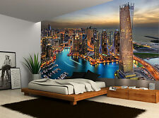 Buildings Skyline Dubai Marina City Photo Wallpaper Wall Mural GIANT WALL DECOR