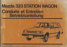 MAZDA 323 Station Wagon Betriebsanleitung 1981 Bedienungsanleitung Handbuch BA