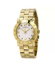 NEW Marc Jacobs Amy White Dial Gold-Tone Stainless Steel Ladies Watch MBM3056