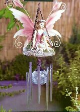 NEW Kitsch Vintage Fairy Solar Colour Changing Light Ball Wind Chime Garden