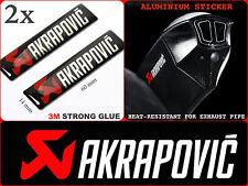 One Pair AKRAPOVIC STICKER Exhaust Pipe  Motorcycle Badge Emblem Logo Decal 2PCS