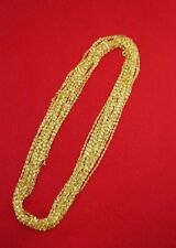 WHOLESALE LOT OF 5 14kt GOLD PLATED 24 INCH 2mm TWISTED NUGGET CHAINS