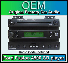 Ford 4500 CD player, Ford Fusion car stereo Black radio supplied with code