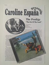"THE PRODIGY ""THE FAT OF THE LAND"" RARE SPANISH CD+PRESS DOSSIER / HOWLETT"