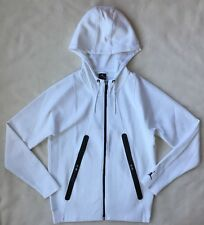 Nike Air Jordan Mens Lite Fleece Full Zip Hoodie MEDIUM 724786 White NEW $150