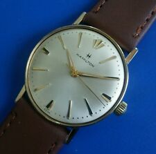 Exquisite Vintage 1950s Mans Hamilton Hand Winding Silver Tone Dial SERVICED!