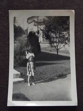 YOUNG BOY WEARING NATIVE AMERICAN INDIAN HEADDRESS & VEST VTG PHOTO