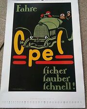 023 Opel Fahre Ficher Fauber Fchnell Berlin Poster Print 22 1/4 by 16 inches