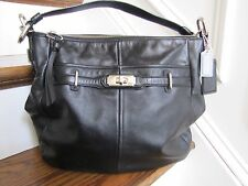 Coach Ashlyn Chelsea Black Leather Hobo Shoulder Purse Handbag 17816