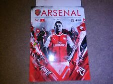 ARSENAL v  LIVERPOOL PROGRAMME AND TEAMSHEET MINT CONDITION 14/07/16