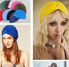 Stretchable Twist Women's Headwrap Turban Head Wrap Bandana Hijab Cap Hat Yellow