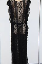 New Jessica Simpson Swimsuit Bikini Cover Up Maci Lace Dress sz L Black