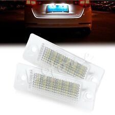 2x18SMD LED License Plate Light Error Free For VW Transporter Passat Golf Touran