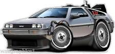Wall Decal Sticker Graphics Back to the Future Delorean DMC12 Cartoon Artwork