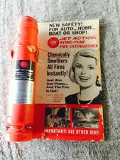 Vintage Fedtro Jet Action Hydro Pump Old Fire Extinguisher  1966 NOS