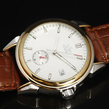 Classic Men's Business Dress Automatic Mechanical Watch Fashion Leather Band Uhr