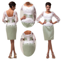 Knee-length Lace Mother of the Bride dresses evening party wedding Short dress 1