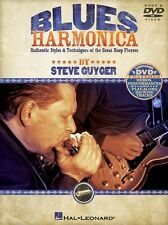 Steve Guyger Blues Harmonica Learn to Play Mouth Organ Harp Music Book & DVD