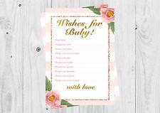 Baby Shower AUGURI per le carte per bambini, Ragazza Rosa a fiori, è una ragazza.
