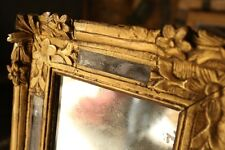 18th Century Italian Gilt mirror with heavily distressed glass