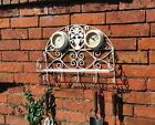 new Wall Coat and Hat Rack With clock Shelf Vintage Style Shabby Chic Whitewash