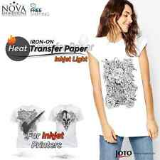 """New Inkjet Iron-On Heat Transfer Paper, For Light fabric, 10 Sheets - 8.5"""" x 11"""""""