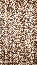 CHEETAH LEOPARD ANIMAL PRINT WEIGHTED LONG SHOWER CURTAIN 180CM X 200CM + RINGS