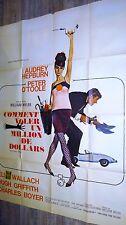 COMMENT VOLER UN MILLION DE DOLLARS  ! audrey hepburn affiche cinema 1966