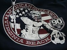 90th Division American Outlaws Virginia Beach T Shirt XL Blue Soccer Team Shirt