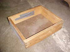 Wooden factory crates with handles