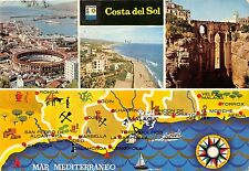 BG6132 costa del sol mar mediterraneo map cartes geographiques   spain