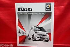 4281) smart Brabus Prospekt brochure + Preisliste 7.2014