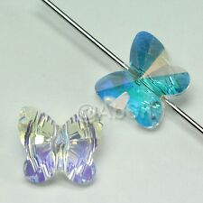 12 pcs Swarovski Element 5754 6mm Butterfly Shaped Crystal Beads CLEAR AB