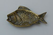 VINTAGE ~  BRASS ~ FISH PIN DISH / TRAY ~