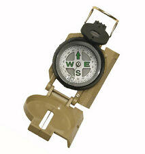 TAN MILITARY MARCHING COMPASS -LIQUID FILLED