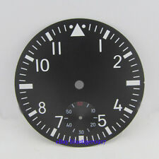 parnis 38.9mm luminous watch dial fit SEAGULL hand winding 6498 movement
