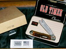 Schrade OTC96 Knife Stag Everlastingly Sharp Trapper USA W/Gift Tin & Papers