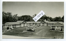 White Plains NY (Westchester Co) RPPC real photo County Center Motel, 1954