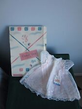 Vintage Carol Joy Girls 2 Pc Pink & White Embroidered Dress NWT Orig Box Ex Cnd